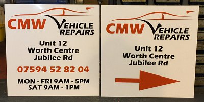 Vehicle Repairs/Workshop Signage